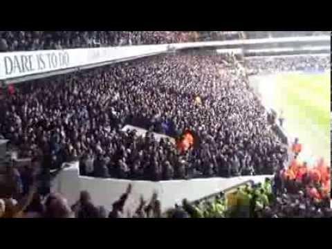 27.02.2014   Tottenham  3 - 1  Dnipro Dnipropetrovsk   fulltime-Tottenham Fans