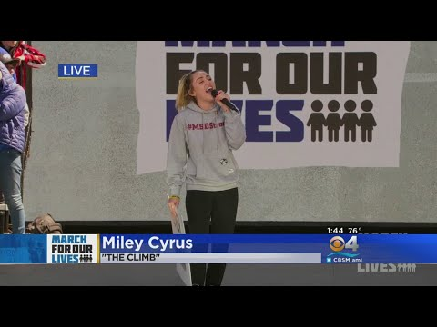 Miley Cyrus Performs 'The Climb' At The March For Our Lives