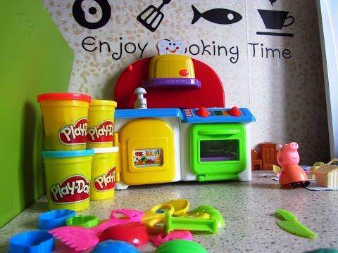 Свинка Пеппа готовит еду для пикника. Пластилин Плей До. Игры с детьми. Видео игра.