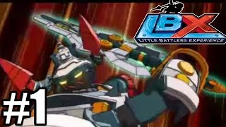 LBX Little Battlers Experience - Gameplay Walkthrough Part 1 - First 37 Minutes [ 3DS ]