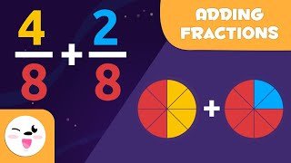 Learn How to Aḋd Fractions - Same Denominator - Math for Kids