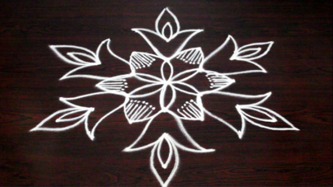 7x4 Dots Muggulu Designs 7 Dots Kolam Designs Easy