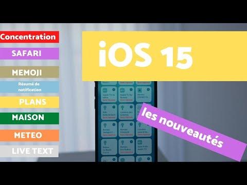 iOS 15 : plus de 50 nouveautés sur iPhone  (français)