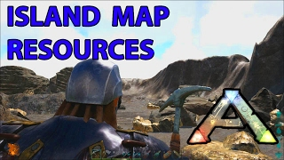 Island Map Resource Locations Silica Pearls, Oil, Metal, Obsidian Ark Survival Evolved thumbnail