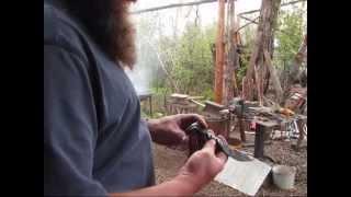 Idaho Hillbilly Homestead # 86 Forging The Spike We Found Into A Knife