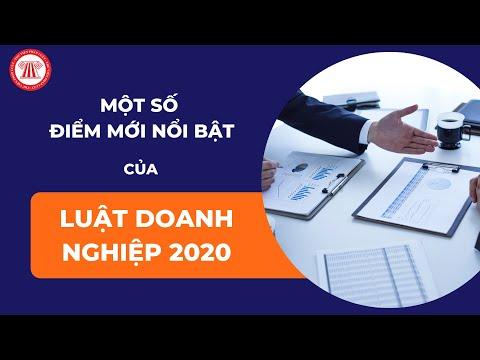 Một số điểm mới nổi bật của Luật Doanh nghiệp 2020    TVPL