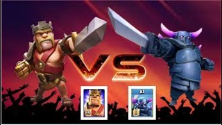 BATTLE TIME -----LEVEL 8 MAX PEKKA AND LEVEL 60 BARBARIAN KING--CLASH OF CLANS