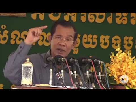 RFA Khmer - PM Hun Sen Carries On Asking For Voters