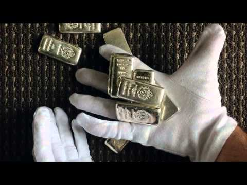 A Handful Of 100g Scottsdale Silver Bars Youtube