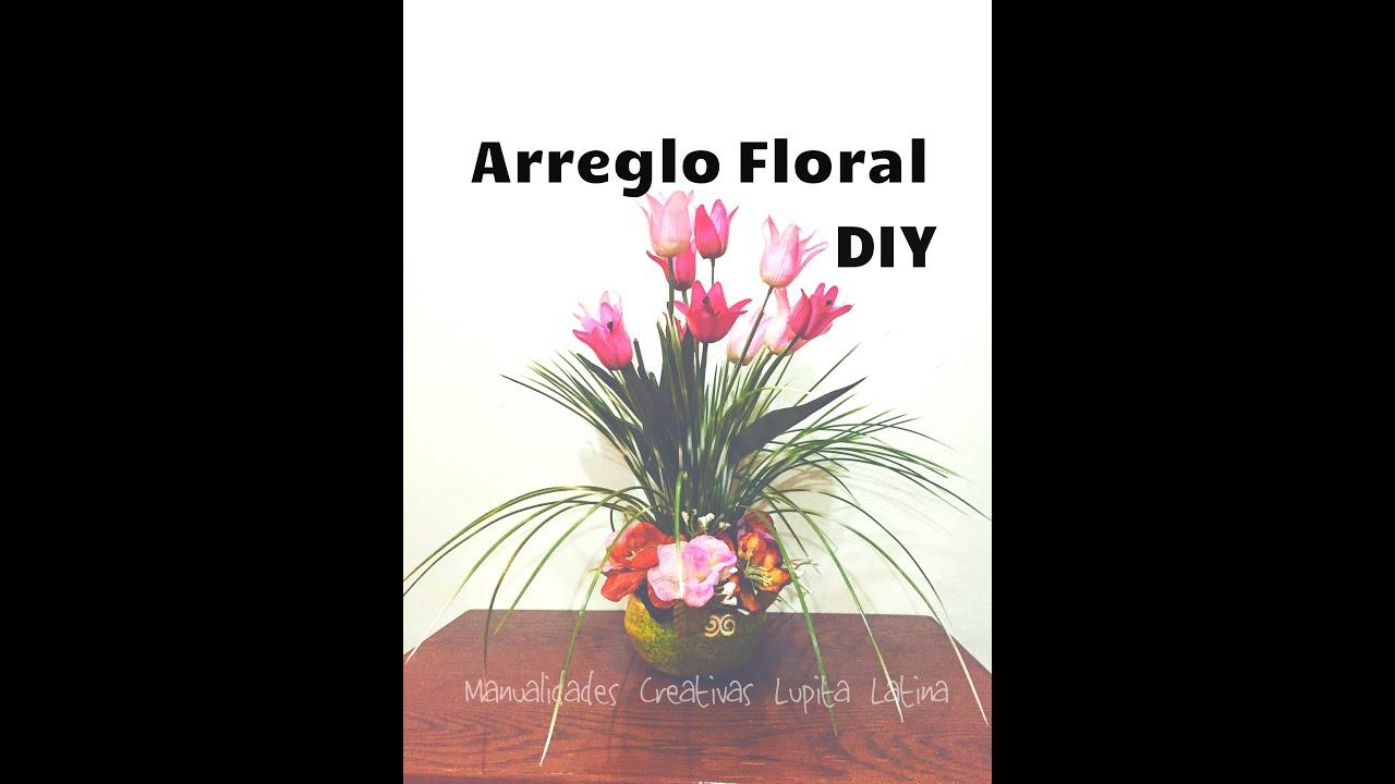 Diy Centro Floral Flores Artificiales Tulipanes Arrangement Of Artificial Flowers