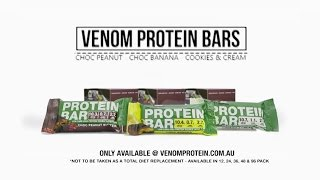 "Venom Dual Layer Protein Bar - ""on The Go"" Low Carb Protein Snack"