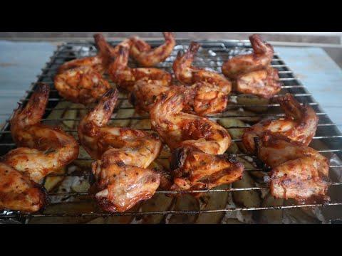 Обалдено вкусные куриные крылышки в духовке как шашлык