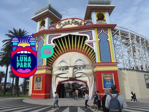 Luna Park Theme Park Walkthrough - Melbourne, Australia
