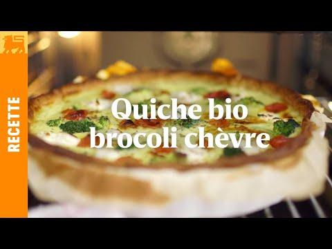 Recettes Delhaize €3 - Quiche bio brocoli chèvre