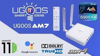 Android 11 - Обзор ТВ-бокса Ugoos AM7 Amlogic S905X4