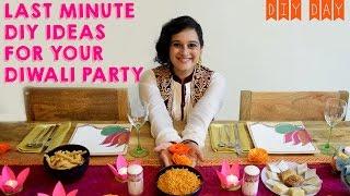 DIY Diwali Party Decor Ideas   Lotus Flower Diya, Mehendi Art Candles, Paper Marigold Flowers