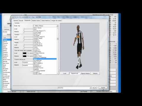Tutorial Crear Club Desde El Editor Fifa Manager 12