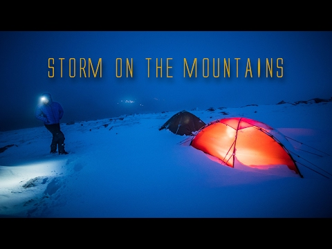 Storm on the Mountains - Feb 2017 (Hilleberg Soulo Tested 50mph wind)