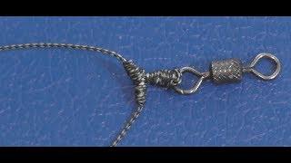 Как привязать два поводка на вертлюжке ,чтобы не слипались (для шнура)