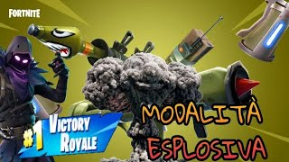 Fortnite ITA - Funny Moment in the new EXPLOSIVE VOLO Mode - Delirium and REAL VITTORY