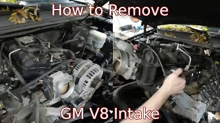 Remove Intake Manifold GM Truck, Accessing The VLOM