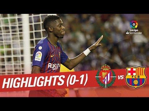 Resumen de Real Valladolid vs FC Barcelona (0-0)