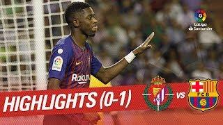 Resumen de Real Valladolid vs FC Barcelona (0-1)