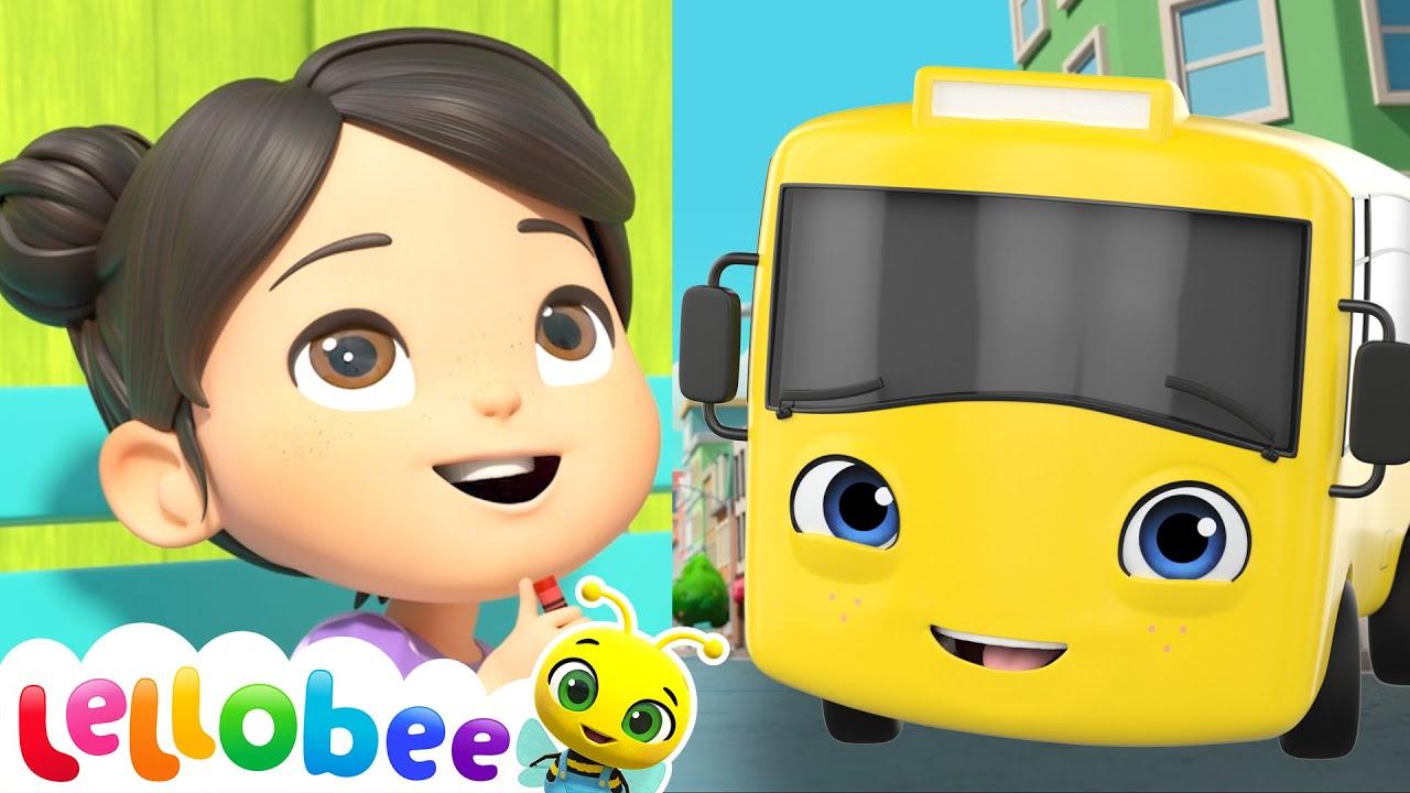 10 Little Buses - @Lellobee City Farm - Cartoons & Kids Songs  | Nursery Rhymes | Moonbug Kids