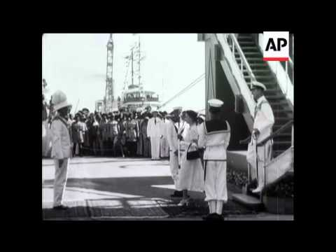 Royal Tour - Queen at Cocos Island and Ceylon - 1954