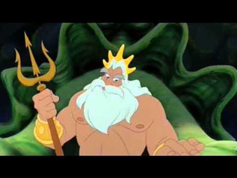 the little mermaid sebastian and king triton youtube