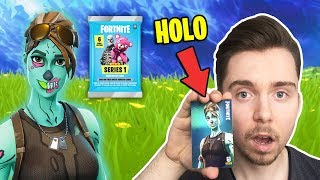 GHOUL TROOPER HOLO PULLED! 😱 the RARE FORTNITE booster PACKS card! 3 HOLO CARDS WTF!!