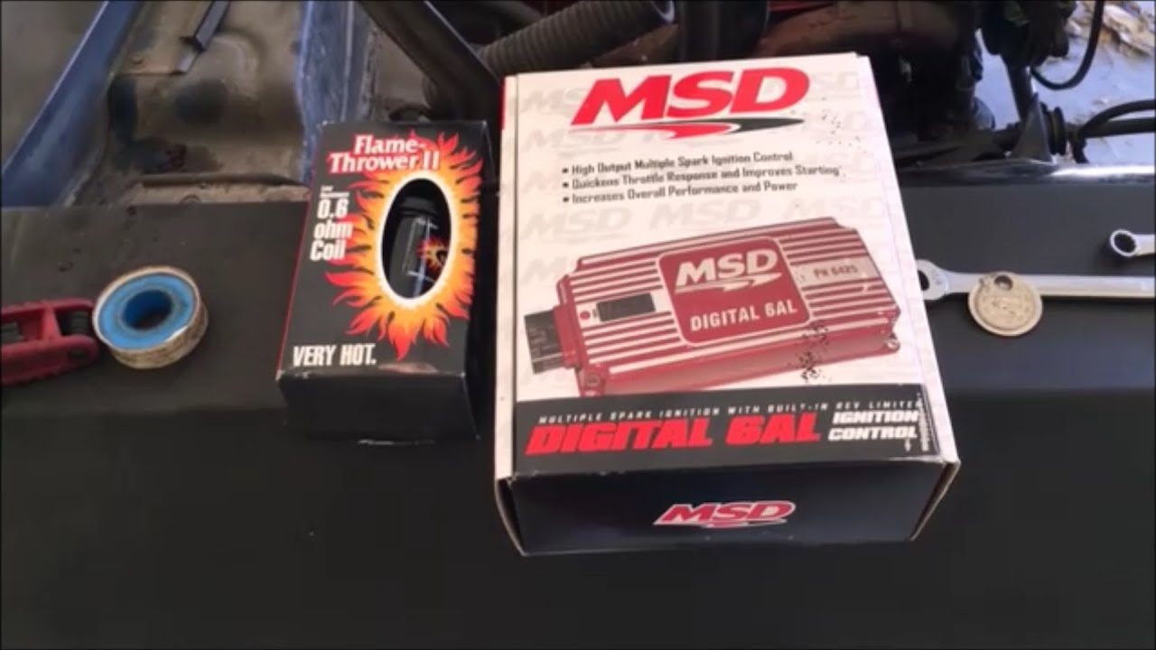 msd digital 6al and distributor install [ 1280 x 720 Pixel ]