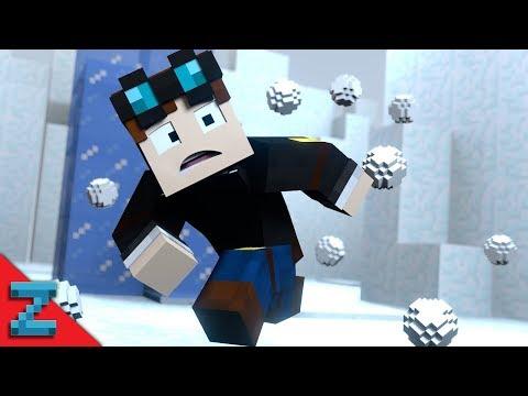 SNOWBALL FIIIIIIGHT | The Diamond Minecart | (Minecraft Animation)