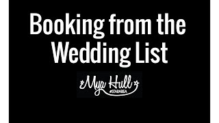 Booking From The Wedding List