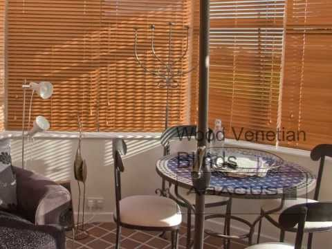 Abacus Blinds and Curtains Wood Venetian Blind Video