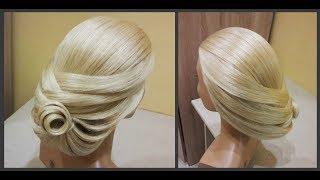 Пошаговое обучение причесок.Вечерняя Коктейльная прическа.Step-by-step training of hairstyles.