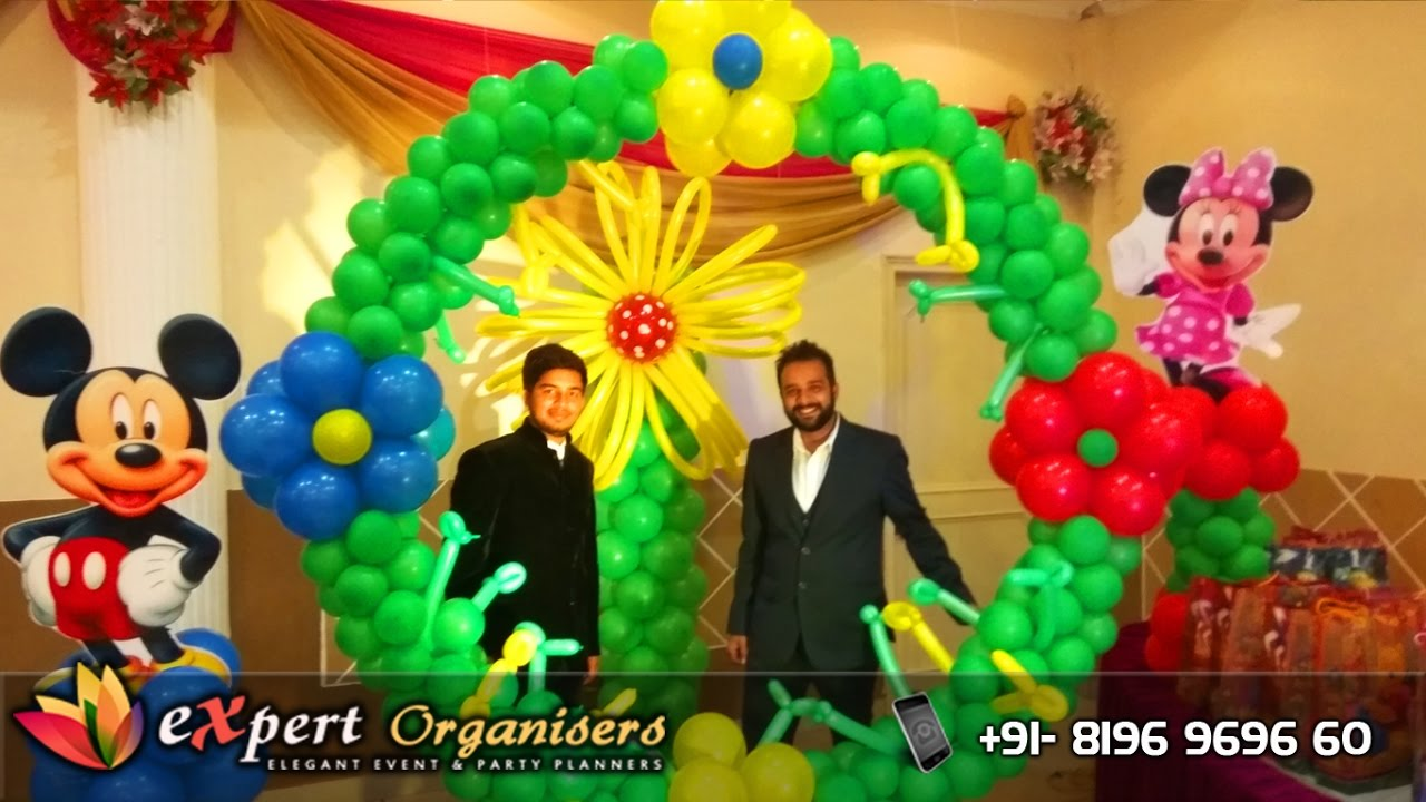 Expert Birthday Balloon Decoration Chandigarh | Disney Themed Party ...