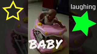 Cute baby laughing