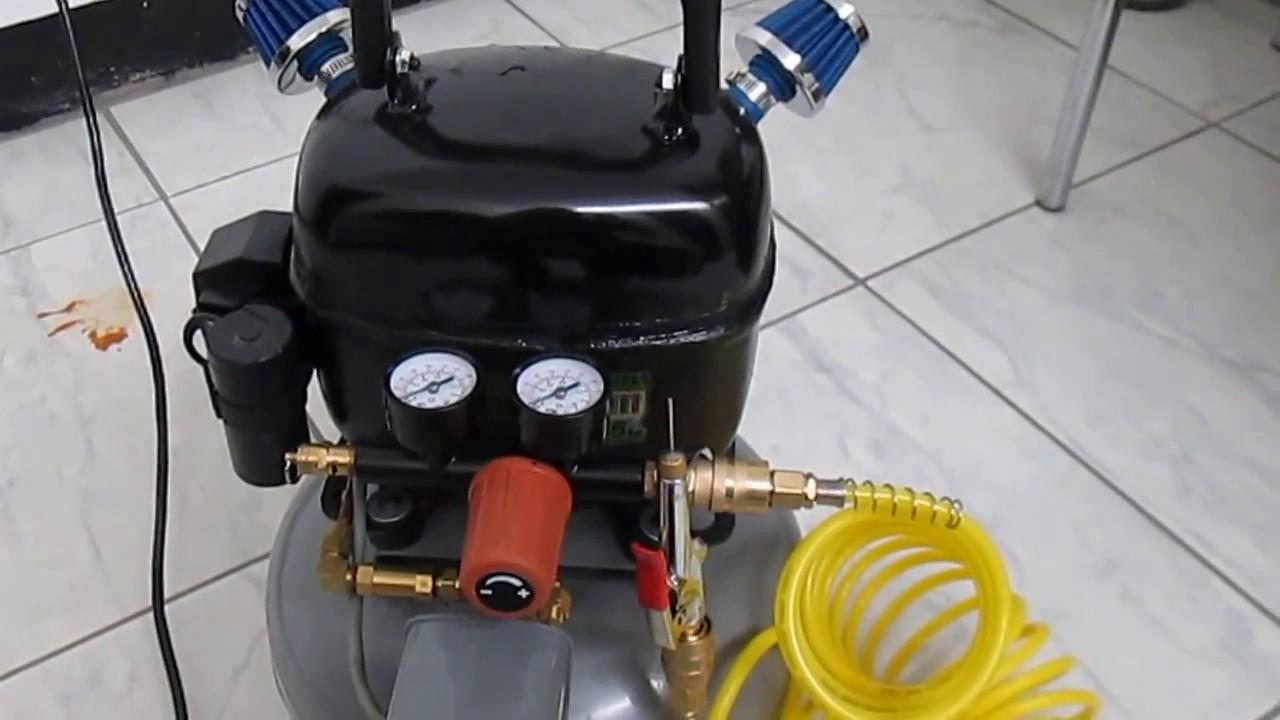 Silent air compressor compresor de aire silencioso doovi for Compresor de aire silencioso
