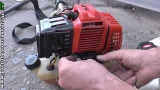 бензокоса / Замена пускового механизма на бензокосе