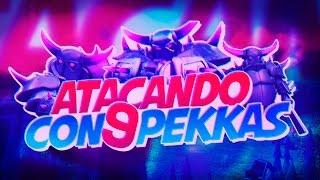 Clash of Clans ♦ Atacando con 9 P.E.K.K.A.S ♦ Super Ataque ♦ En español