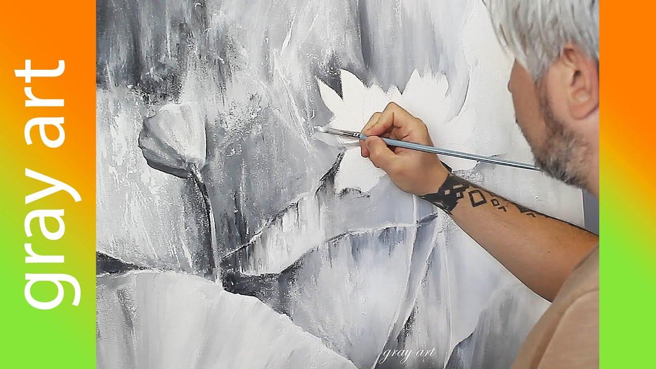Картина Акриловыми Красками с Поталью