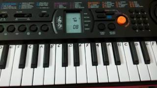 ek din bik jaayega mati ke mol casio keyboard tutorial how to play easy notes for beginners