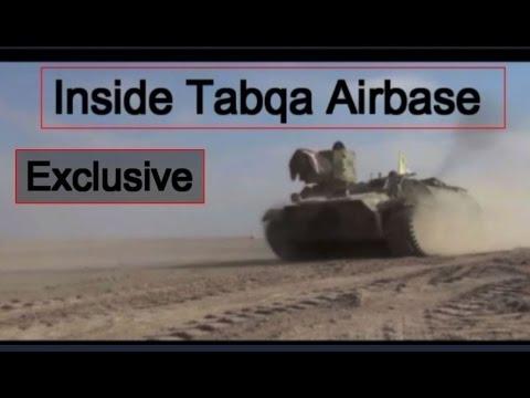 Inside  Tabqa airbase in Syria ,New video:,  April 2017