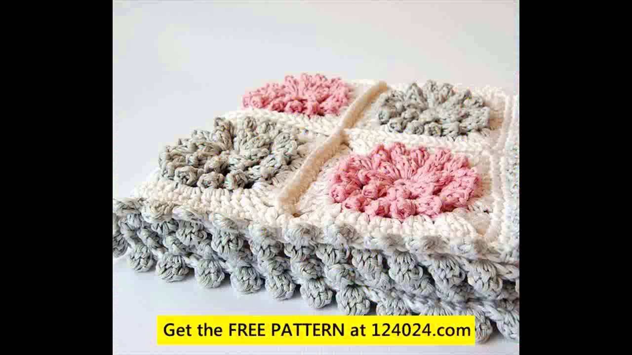 bernat baby blanket yarn patterns crochet - YouTube