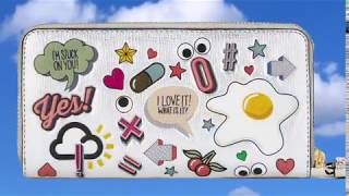Anya Hindmarch 'Allover Stickers' Leather zip around wallet Super f...