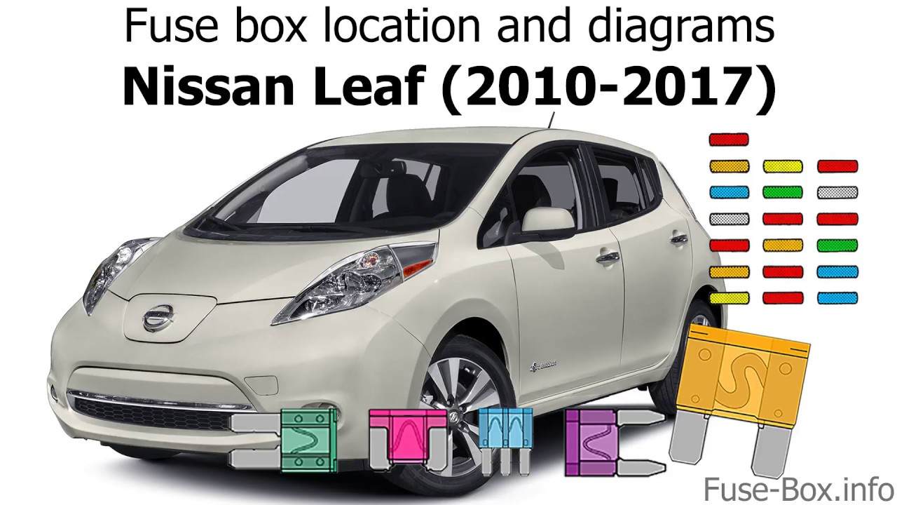 car fuse box diagrams for nissan 2012 fuse box location and diagrams nissan leaf  2010 2017  youtube  fuse box location and diagrams nissan
