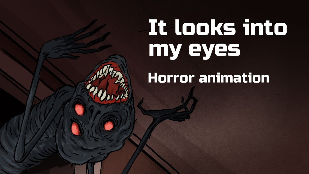It looks into my eyes. Horror animated story №64