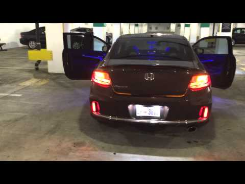 Honda Accord Coupe 2014 Headlight And Tail Light Upgrade Youtube