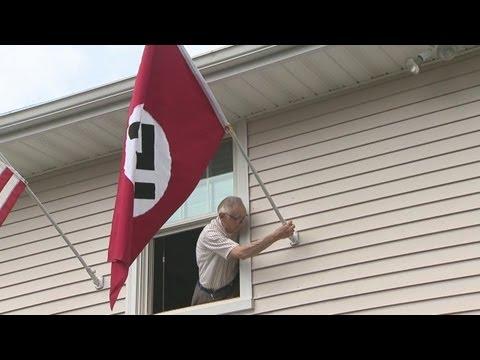Man Flying Nazi Flag To Protest Obama